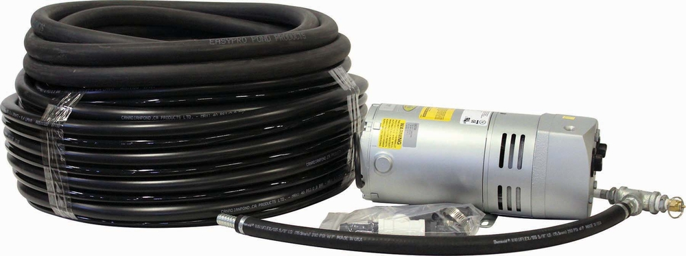 Airpro 1/4 HP Gast Rotary Vane Bubble 100' Tubing Kit