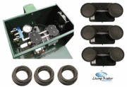 AirPro Deluxe Pond Aerator Kit - up to 3 Acre Ponds (Post Mount Cabinet)