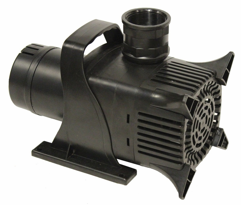 Asynchonous submersible mag drive pump 9700 gph for Large pond pumps