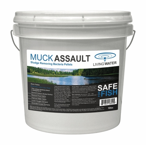 Muck Assault Sludge Remover Pellets - 10lb pail