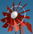 Outdoor Water Solutions, Powder Coated (2 Colored) 3 Legged Windmill Aeration System - 12'