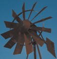 Outdoor Water Solutions, Powder Coated (2 Colored) 3 Legged Windmill Aeration System - 20'