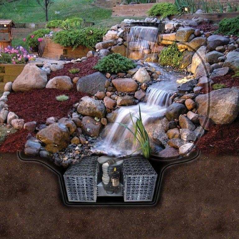 Pro-Series Just-A-Falls Kit w/ Standard Res-Cubes 50 Spillway (22' Stream)