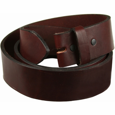 "100% One Piece Full Grain Burgundy Work Belt Strap 1-1/2"" Wide • Made in USA•"
