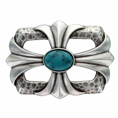 Turquoise stone Cross Celtic Belt Buckle