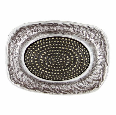 Oval Trench Pattern Belt Buckle