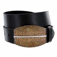 Rusty Belt Buckle Casual Jean Leather Belt