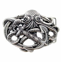 Octopus Boat Anchor Belt Buckle