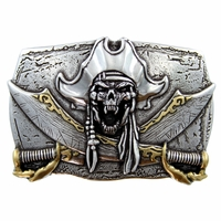 Pirate Skull 3D Punk Belt Buckle