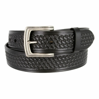 "10311 Basketweave Men's Work Uniform Casual Belt 1 1/2"" Wide - Black"