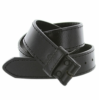 "1051 Full Grain Leather Belt Strap 1 1/2"" Wide (Black)"