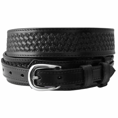 10572 Western Basketweave Ranger Belt-Black