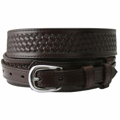 10573 Western Basketweave Ranger Belt - Brown