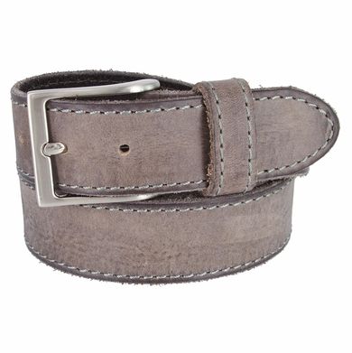 10699051 Made In Italy Men's Full Grain Leather Casual Jean Belt - Gray