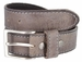 10699051 Made In Italy Men's Full Grain Leather Casual Jean Belt - Gray1