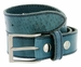 Made In Italy Men's Full Grain Leather Casual Jean Belt - Navy1