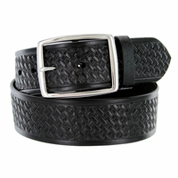 "10854 Reno Basketweave Men's Work Uniform Belt 1 3/4"" Wide - Black"