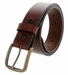 "11082055 Men's Burgundy Wine Work Casual Jean Belt 1-1/2"" Wide3"