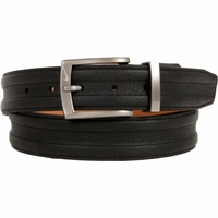 1108401 Nike Golf Tour Men's Trapunto G-Flex Leather Belt - Black