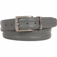 1108409 Nike Golf Tour Men's Trapunto G-Flex Leather Belt - Grey