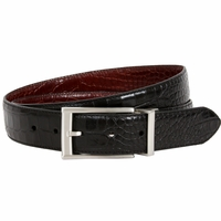 Nike Golf Tour Men's Crocodile Embossed Reversible Leather Belt - Black/Brown