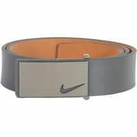 Nike Golf Tour Men's Sleek Modern Plaque Leather Belt - Grey