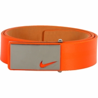 11187246 Nike Golf Tour Men's Sleek Modern Plaque Leather Belt - Turf Orange