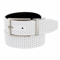 1118853 Nike Golf Tour Men's Perforated Reversible Leather Belt - White/Black