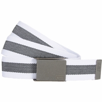 1119804 Nike Golf Sport Men's Rubber Inlay Reversible Web Belt - White