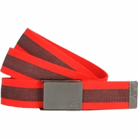 11198255 Nike Golf Sport Men's Rubber Inlay Reversible Web Belt - Lt. Crimson