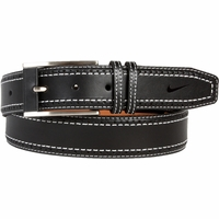 1120401 Nike Golf Tour Men's Perforated Edge Premium Leather Belt - Black