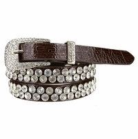 "NEW!! 118 Women's Diva Croco Rhinestone Studded Western Belt 3/4"" Wide"