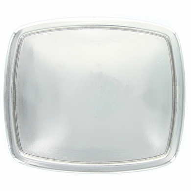 14442 Bright Silver Rectangular Plain Belt Buckle