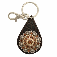 146279690 Swarovski Rhinestone Crystal Berry Concho Key Ring