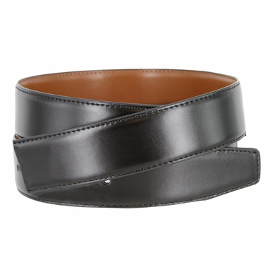 "160501 Men's Reversible Genuine Leather Dress Casual Belt Strap 1-3/8"" (35mm) wide - Black/Tan"