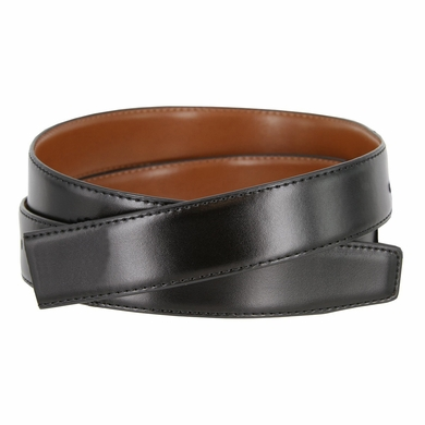 "160502 Men's Reversible Genuine Leather Dress Casual Belt Strap 1-1/8"" (30mm) wide - Black/Tan"
