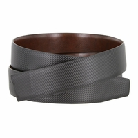 "160505 Men's Reversible Genuine Leather Dress Casual Belt Strap 1-3/8"" (35mm) wide - Black/Brown"