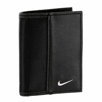 1688901 Nike Golf Sport Men's Leather Tech Twill Card Case With Clip - Black