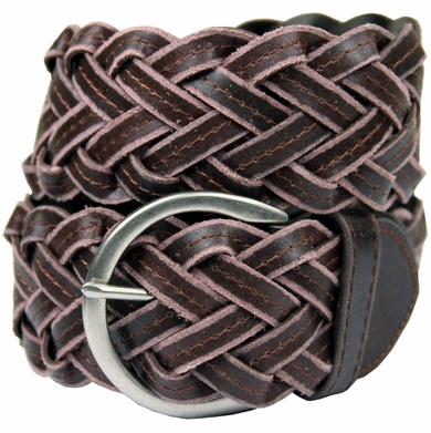 "1699 Soft Basketweave 2"" wide Casual Belt-Brown"