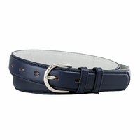 "188 Navy Women's Dress Belt 1-1/8"" Wide"