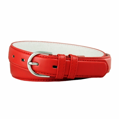 "188 Red Women's Dress Belt 1-1/8"" Wide"