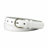 "188 White Women's Dress Belt 1-1/8"" Wide"