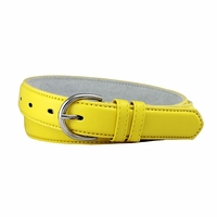 "188 Yellow Women's Dress Belt 1-1/8"" Wide"