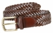 "Men's Braided Leather Dress Belt 1-3/8"" (35mm) Wide - Brown2"