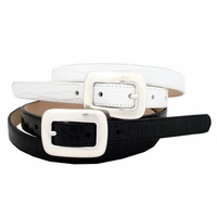 "2159 Women's Leather Dress Belt 3/4"" Wide"
