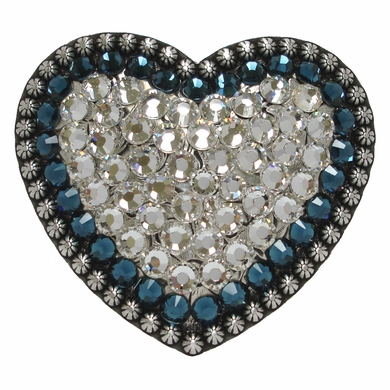 "2185 Swarovski Rhinestone Belt Buckle Fits 1 1/2"" Wide Belts"