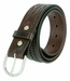 2287 Western Hand Lacing Braided Embossed Full Leather Belt-Brown1