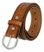 2287 Western Hand Lacing Braided Embossed Full Leather Belt-Tan3