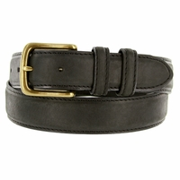 2777 Men's Black Crazy Horse Western Leather Dress Belt
