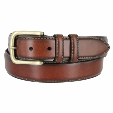 "Men's Genuine Leather Dress Belt 1-3/8"" Wide - Brown"